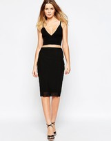 Finders Keepers Stand Still Skirt with Mesh Detail