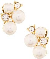 Anne Klein Faux-Pearl Cluster Clip-On Earrings