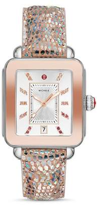 Michele Deco Sport Rainbow Diamond Watch, 34mm x 36mm