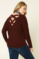 Forever 21 FOREVER 21+ Plus Size Cutout-Back Sweater