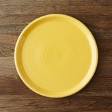 Crate & Barrel Farmhouse Yellow Dinner Plate