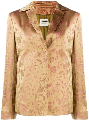 Romeo Gigli Pre-Owned 2000's Floral Jacquard Jacket
