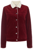 Tu clothing Red Corduroy Borg Collar Jacket