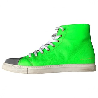 Marc Jacobs Green Leather Trainers