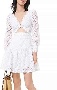 MICHAEL Michael Kors Medallion Lace Cutout Dress