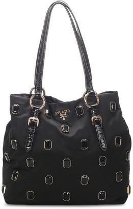 Prada Pre Owned Gemstone-Embellished Tote Bag