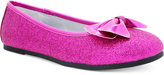 Nina Girls' or Little Girls' Hazelle Glitter & Bow Ballet Flats