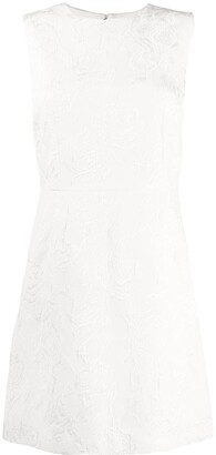 Dolce & Gabbana sleeveless floral brocade dress