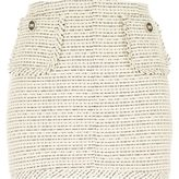 River Island Womens White woven boucle short skirt