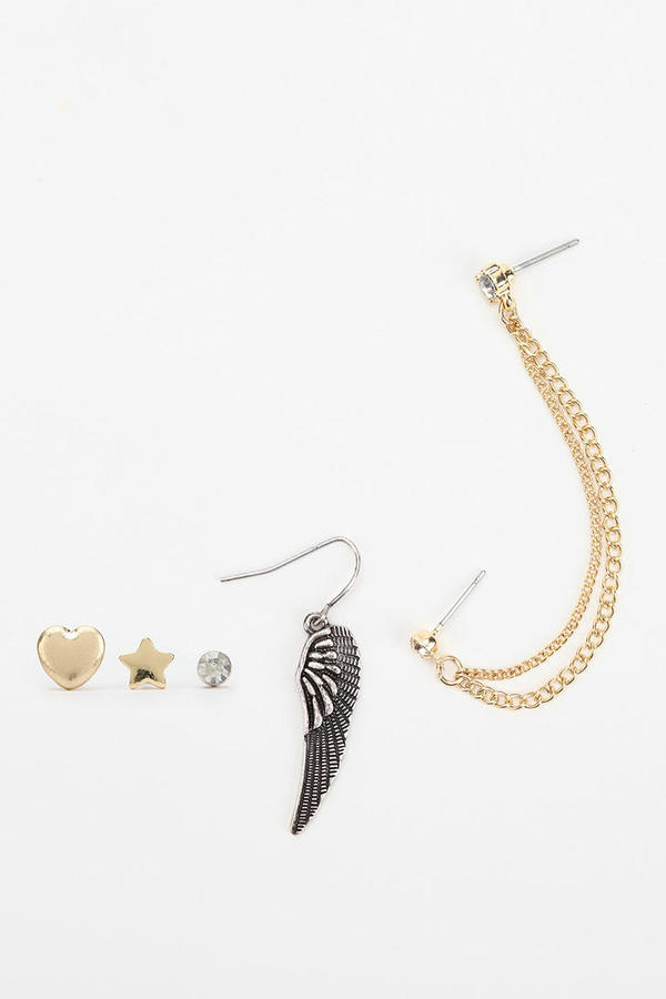 Urban Outfitters Golden Coast Earring Set