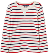 Joules Little Joule Boys' Young Breton Stripe Long Sleeve T-Shirt, Red/Navy