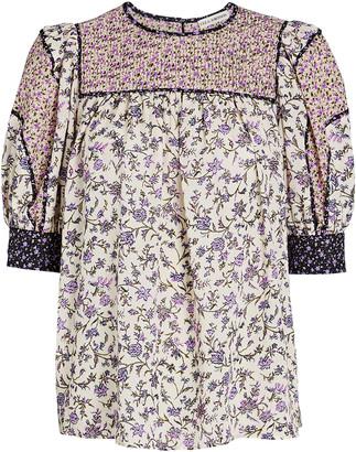 Ulla Johnson Stella Floral Puff Sleeve Top