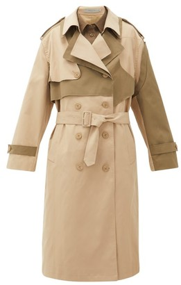 Preen Line Adel Asymmetric Double-breasted Twill Trench Coat - Beige