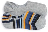 Lorenzo Uomo Men's 'Genova Stripe' No-Show Socks