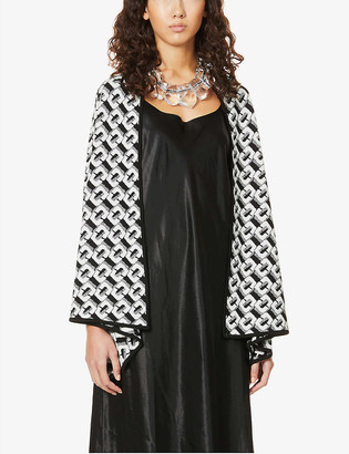 Diane von Furstenberg Taya geometric-pattern wool cardigan