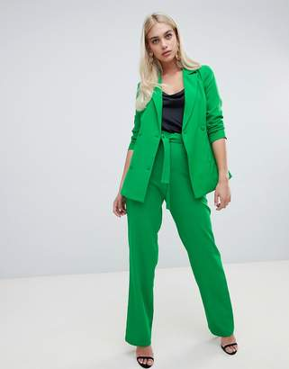 Outrageous Fortune wide leg pant with tie waist in green