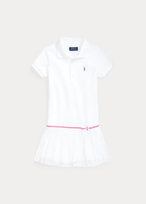 Ralph Lauren Pleated Mesh Polo Dress