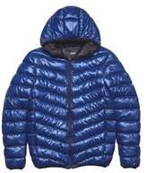 Burton Mens Blue Glacier Quilted Hooded Jacket