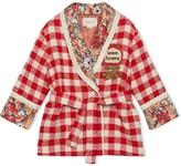 Children's check tweed jacket