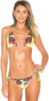 Agua Bendita Florecer Top in Yellow. - size L (also in M,S)