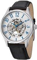 Stuhrling Original Men's 746L.01 Automatic Solaris Silver Dial Black Leather watch