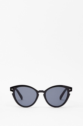 Nasty Gal Womens See You Later Rounded Sunglasses - Black - One Size