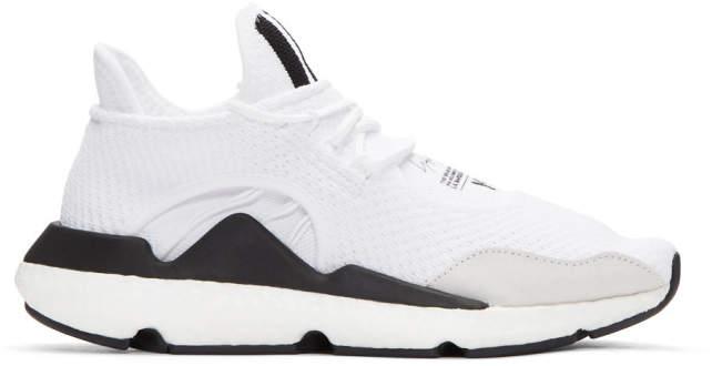 Y-3 White Saikou PK Sneakers