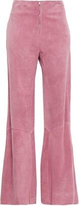 Victoria Beckham Suede Wide-leg Pants