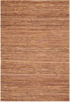 "D Style Natural Jute Eggplant 3'6"" x 5'6"" Area Rug"