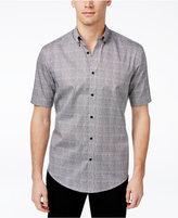 Alfani Men's Big & Tall Grid-Pattern Short-Sleeve Shirt, Only at Macy's