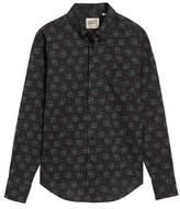 Naked & Famous Denim Men's Black Kasuri Regular Fit Print Sport Shirt