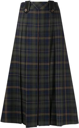 Mulberry Gia tartan-print skirt