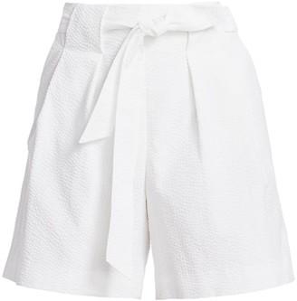 St. John Tied Seersucker Shorts