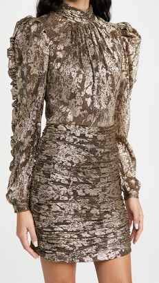 Jonathan Simkhai Ashe Metallic Plisse Mini Dress