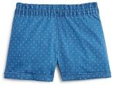 Aqua Girls' Polka Dot Chambray Shorts - Sizes 7-16