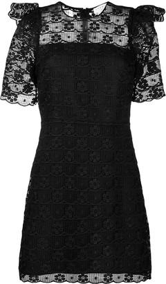 Sandro Lace-Detail Mini Dress