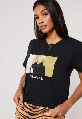 Missguided Black Devil Wears Prada Slogan T Shirt