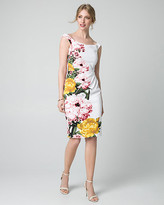 Le Château Floral Print Knit Off-the-Shoulder Dress