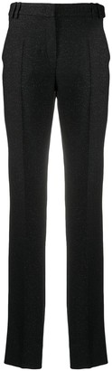 Emporio Armani Glitter Detail High-Waisted Trousers