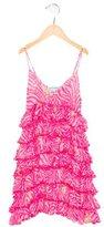 Miss Blumarine Girls' Silk Floral Print Dress