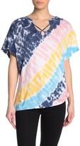 Vintage Havana Tie-Dye Stripe Dolman T-Shirt