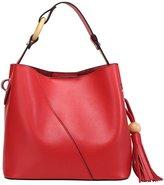 BICOLOR Women's New Fashion Handbag Genuine Leather Shoulder Bags Tote Bags Hot Sale