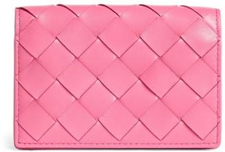 Bottega Veneta Leather Intrecciato Bifold Card Holder