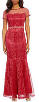 Brianna Cap Sleeve Illusion Lace Gown