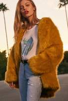 Urban Outfitters Ami Faux Fur Collarless Coat