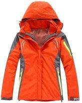 LANBAOSI Women's Waterproof Detachable Ski Snowboarding Hooded Jacket