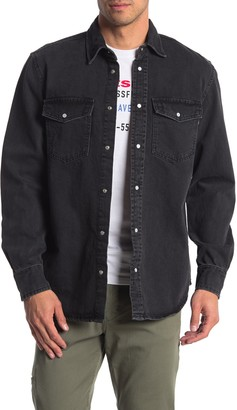 Diesel Rooke Denim Snap Button Shirt