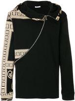 Versace printed asymmetric zip hoodie