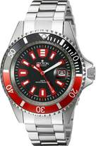 Croton Men's CA301282BKRD Analog Display Quartz Silver Watch