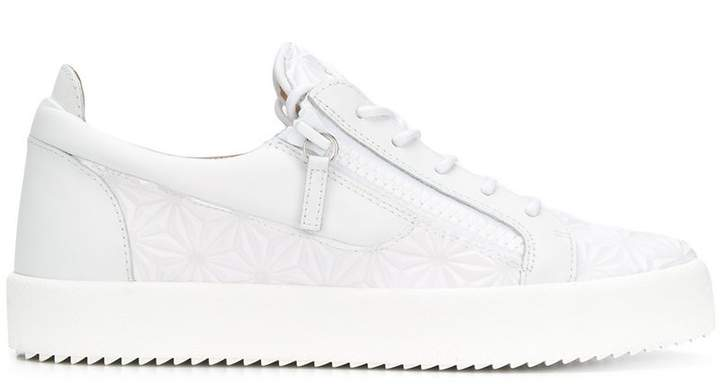 Giuseppe Zanotti Design textured lace-up sneakers